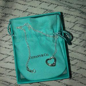 Tiffany necklace 16 mm open heart pendant